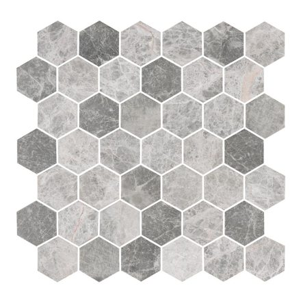 Hexagon Grey Medium Marble Honed