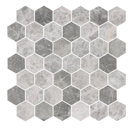 Hexagon Grey Medium Marble Honed