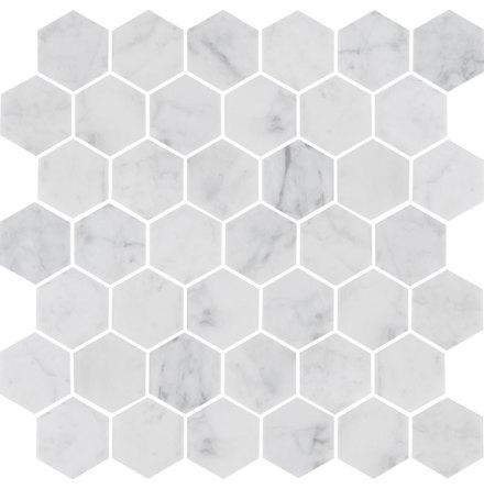 U Hexagon Medium Carrara Honed