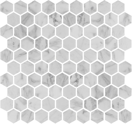 U Hexagon Carrara Polished