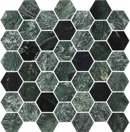Hexagon Green Medium Marble Polished