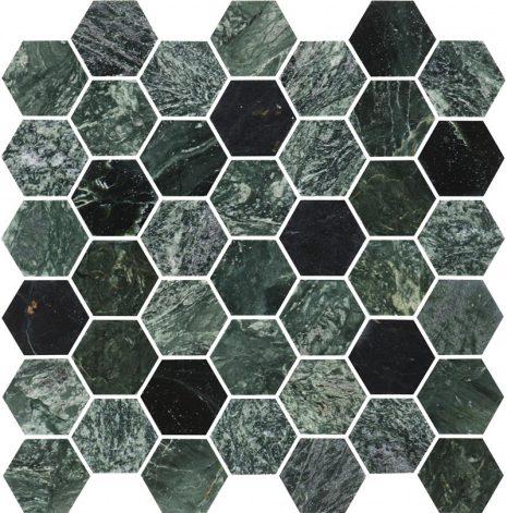 Hexagon Green Medium Marble Polished