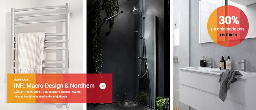 Kampanj på Macro Design, Nordhem och INR's sortiment i vår butik i Malmö