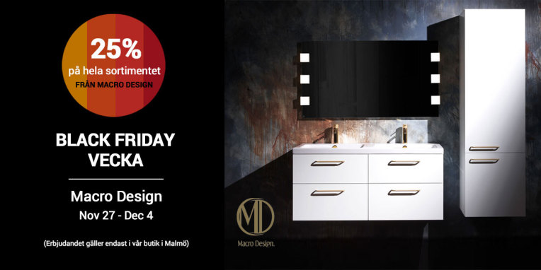 Black Friday vecka - 25% rabatt på hela Macro Designs sortiment